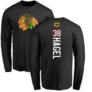 Brandon Hagel Chicago Blackhawks Youth Black Backer Long Sleeve T-Shirt -