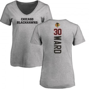 Cam Ward Chicago Blackhawks Women's Backer T-Shirt - Ash